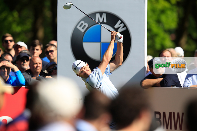 Justin Rose (ENG) during round 1 of the 2015 BMW PGA Championship over the West Course at Wentworth, Virgina Water, London. 21/05/2015<br /> Picture Fran Caffrey, www.golffile.ie: