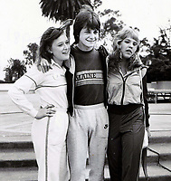 Michael J Fox with Kari MIchaelson (Gimme a Break) and Lauri Hendler (Silver Spoons) 1982<br /> Photo By John Barrett/PHOTOlink.net