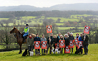 BNPS.co.uk (01202 558833)<br /> Pic: ZacharyCulpin/BNPS<br /> <br /> Madding crowd - Campaingers pictured in front the valley where the solar farm is proposed to be installed.  <br /> <br /> Thomas Hardy fans have slammed plans to build one of the UK's largest solar farms in the heart of Hardy Country.<br /> <br /> The enormous £20m solar farm would cover 187 acres, equivalent to 140 football pitches, and could produce enough power for more than 10,600 homes.<br /> <br /> But critics have said the application site, near the village of Longburton in Dorset, would be a blot on the farmland landscape that featured prominently in Hardy's Wessex novels.<br /> <br /> The proposed area at Stockbridge Farm is in the Blackmore Vale - which Hardy called the 'Vale of the Little Dairies' - and he writes about the landscape there in Tess of the D'Urbervilles (1891) and The Woodlanders (1887), as well as many of his poems.