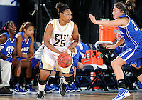 Florida International University forward Arielle Durant (25) plays against Lynn University.  FIU won the game 68-30 on November 30, 2011 at Miami, Florida. .