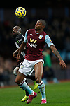 Wesley of Aston Villa and Jetro Willems of Newcastle United during the Premier League match at Villa Park, Birmingham. Picture date: 25th November 2019. Picture credit should read: Darren Staples/Sportimage