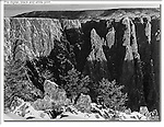 Traditional black & white print (before digital), Black Canyon of the Gunnison National Park, Colorado. John leads private photo tours throughout Colorado, year-round.