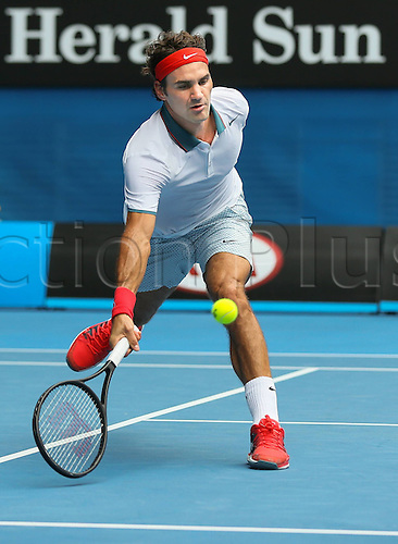 18.01.2014. Melbourne, Australia. Australian Open 2014, Melbourne Park,ITF Grand Slam Tennis Tournament. Australian Open 2014, Melbourne Park,ITF Grand Slam Tennis Tournament . Roger Federer (SUI)