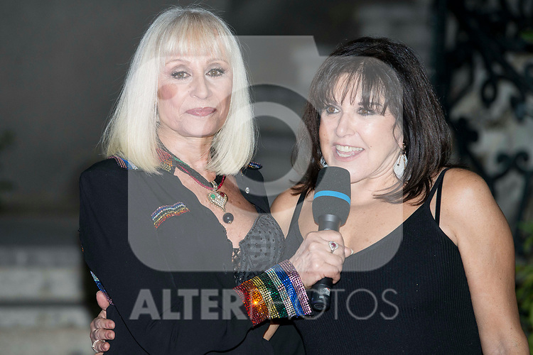 Italian singer Raffaella Carra and Spanish actress Loles Leon receives the World Pride Award 2017 at Italian Embassy in Madrid, June 27, 2017. Spain.<br /> (ALTERPHOTOS/BorjaB.Hojas)