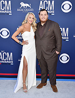 LAS VEGAS, CA - APRIL 07: Nicole Hocking, Luke Combs attends the 54th Academy Of Country Music Awards at MGM Grand Hotel &amp; Casino on April 07, 2019 in Las Vegas, Nevada.<br /> CAP/ROT/TM<br /> &copy;TM/ROT/Capital Pictures