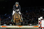Vincent Bartin of France riding on Vintage Sologne competes during the EEM Trophy, part of the Longines Masters of Hong Kong on 10 February 2017 at the Asia World Expo in Hong Kong, China. Photo by Marcio Rodrigo Machado / Power Sport Images