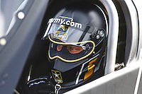 Apr 30, 2016; Baytown, TX, USA; NHRA top fuel driver Tony Schumacher during qualifying for the Spring Nationals at Royal Purple Raceway. Mandatory Credit: Mark J. Rebilas-USA TODAY Sports