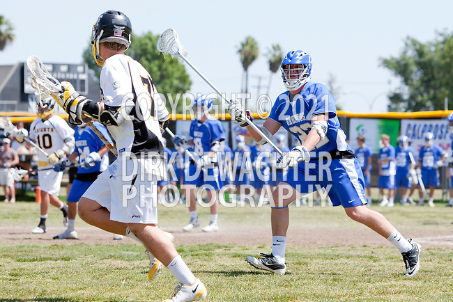 Santa Ana, CA 04/30/10 - Jeremy Hutchens (Rancho Bernardo #22) in action during the Rancho Bernardo Broncos-Foothill Santa Ana Knights boys lacrosse game at Foothill High School.
