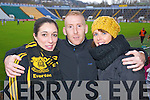 Pictured at Pairc Ui Chaoimh on Sunday for the Crokes v  Castlehaven senior club final game were l-r: Juliette Murphy, Edmond O'Sullivan and Karen Cooper.