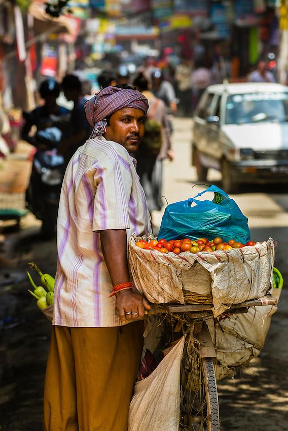 Street scene, Thamel district, Kathmandu, Nepal.
