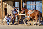 Nick and Jackie Dowers pose with their children at the family-Triple D Ranch in Dyer, Nevada. Nick is the 2013 National Reined Cow Horse Association Snaffle Bit Futurity Open Champion