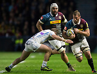 Harlequins' Chris Robshaw in action during todays match<br /> <br /> Photographer Bob Bradford/CameraSport<br /> <br /> Aviva Premiership Round 20 - Harlequins v Exeter Chiefs - Friday 14th April 2017 - The Stoop - London<br /> <br /> World Copyright &copy; 2017 CameraSport. All rights reserved. 43 Linden Ave. Countesthorpe. Leicester. England. LE8 5PG - Tel: +44 (0) 116 277 4147 - admin@camerasport.com - www.camerasport.com