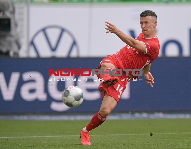 27.06.2020, Fussball: nph00001 1. Bundesliga 2019/2020, 34. Spieltag, VfL Wolfsburg - FC Bayern Muenchen, in der Volkswagen-Arena Wolfsburg. Ivan Perisic (Bayern MŸnchen)<br /><br />Foto: Bernd Feil/M.i.S./ /Pool/nordphoto<br /><br />Nur fŸr journalistische Zwecke! Only for editorial use! <br /><br />GemŠ§ den Vorgaben der DFL Deutsche Fussball: nph00001 Liga ist es untersagt, in dem Stadion und/oder vom Spiel angefertigte Fotoaufnahmen in Form von Sequenzbildern und/oder videoŠhnlichen Fotostrecken zu verwerten bzw. verwerten zu lassen. DFL regulations prohibit any use of photographs as image sequences and/or quasi-video.    <br /><br />National and international NewsAgencies OUT.