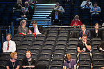 © Joel Goodman - 07973 332324 . 23/09/2013 . Brighton , UK . Empty seats at the Labour Party Conference this afternoon (Monday 23rd September 2013) on Work and Business Stability and Prosperity. Day 2 of the Labour Party 's annual conference in Brighton . Photo credit : Joel Goodman