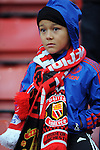 A young Manchester United fan<br /> - Barclays Premier League - Stoke City vs Manchester United - Britannia Stadium - Stoke on Trent - England - 26th December 2015 - Pic Robin Parker/Sportimage
