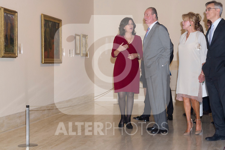 08.10.2012. Spanish Royals, Juan Carlos and Sofia, preside the ceremony commemorating the 20th anniversary of the Thyssen-Bornemisza Museum located in the Villahermosa Palace, in Madrid, Spain. In the image Spanish culture minister Jose Ignacio Wert, Madrid Regional President Ignacio Gonzalez, King Juan Carlos of Spain, Queen Sofia of Spain, Baroness Carmen Thyssen-Bornemisza, President of the Spanish parliament Jesus Posada and Mayor of Madrid Ana Botella (Alterphotos/Marta Gonzalez)