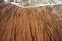 Sand patterns at Koki Beach, Maui, Hawaii