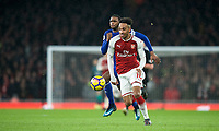 Pierre-Emerick Aubameyang of Arsenal during the Premier League match between Arsenal and Everton at the Emirates Stadium, London, England on 3 February 2018. Photo by Andrew Aleksiejczuk / PRiME Media Images.
