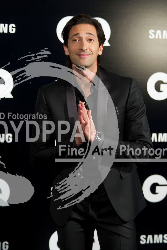 19/11/2012. Palace Hotel. Madrid. Spain. GQ Men Of The Year Award 2012. Adrien Brody. (C) Belen Diaz / DyD Fotografos