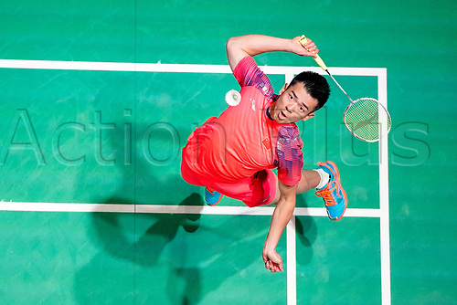 18th March 2018, Arena Birmingham, Birmingham, England; Yonex All England Open Badminton Championships; Zheng Siwei (CHN) and Huang Yaqiong (CHN) in the mixed doubles final against Yuta Watanabe (JPN) and Arisa Higashino (JPN)