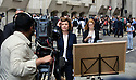 Pic shows: Media TV teams go live from the Old Bailey<br /> BBC News Jane Hill reports live