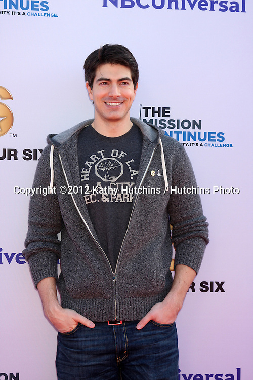 """LOS ANGELES - NOV 9:  Brandon Routh at the Veterans Day Service Event to feed LA Children sponsored by """"The Mission Continues"""" and """"Got Your 6"""" organizations. at Globe Theater at Universal Studios on November 9, 2012 in Los Angeles, CA"""