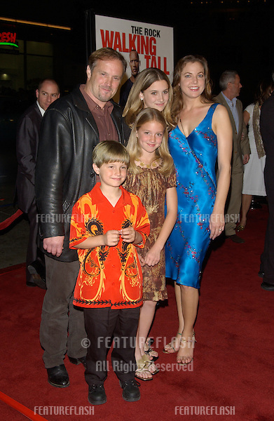 Actor MICHAEL BOWEN & family at the world premiere, in Hollywood, of his new movie Walking Tall..March 29, 2004