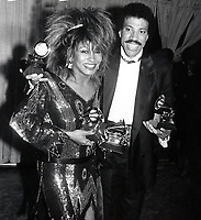 New York City<br /> 1985 <br /> Tina Turner Lionel Richie<br /> Photo By John Barrett-PHOTOlink.net/MediaPunch