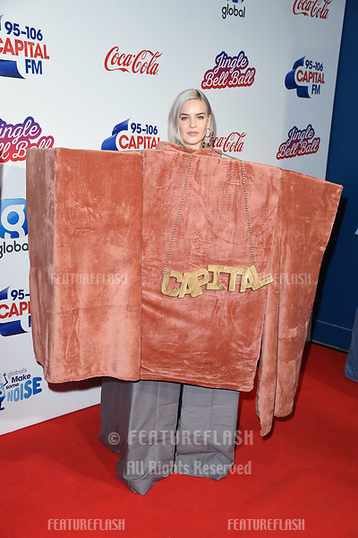 LONDON, UK. December 08, 2018: Anne-Marie at Capital's Jingle Bell Ball 2018 with Coca-Cola, O2 Arena, London.<br /> Picture: Steve Vas/Featureflash