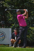 Shubhankar Sharma (IND) watches his tee shot on 2 during round 3 of the World Golf Championships, Mexico, Club De Golf Chapultepec, Mexico City, Mexico. 3/3/2018.<br /> Picture: Golffile | Ken Murray<br /> <br /> <br /> All photo usage must carry mandatory copyright credit (&copy; Golffile | Ken Murray)