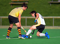 Action from the men's premier one Wellington Hockey match between Harbour City and Northern United at National Hockey Stadium in Wellington, New Zealand on Saturday, 13 June 2020. Photo: Dave Lintott / lintottphoto.co.nz