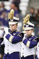 SEATTLE, WA - NOVEMBER 12:  Washington band members entertained fans before the game. Washington defeated USC at the University of Washington in Seattle, WA.
