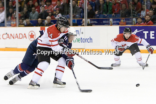 Jordan Eberle (Canada - 14), John Carlson (USA - 11) - Team Canada defeated Team USA 5-4 (SO) on Thursday, December 31, 2009, at the Credit Union Centre in Saskatoon, Saskatchewan, during the 2010 World Juniors tournament.