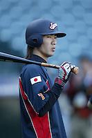 Tsuyoshi Nishioka of Japan during World Baseball Championship at Angel Stadium in Anaheim,California on March 15, 2006. Photo by Larry Goren/Four Seam Images