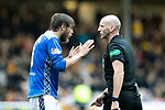 Motherwell v St Johnstone&hellip;20.10.18&hellip;   Fir Park    SPFL<br />Murray Davidson pleads with referee Bobby Madden<br />Picture by Graeme Hart. <br />Copyright Perthshire Picture Agency<br />Tel: 01738 623350  Mobile: 07990 594431