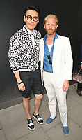 Hu Bing and Alistair Guy at the LFW (Men's) s/s 2019 Christopher Raeburn catwalk show, BFC Showspace, The Store Studios, The Strand, London, England, UK, on Sunday 10 June 2018.<br /> CAP/CAN<br /> &copy;CAN/Capital Pictures