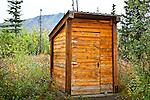 The outhouse at South Fork of Koyukuk River, Dalton Hwy, Arctic Alaska, Summer.