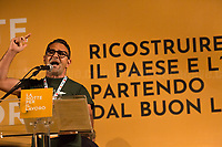 """Ex-ILVA (now ArcelorMittal Italia) Worker from Taranto.<br /> <br /> Rome, 29/07/2020. Today, the three main Italian Trade Unions: CGIL (Italian General Confederation of Labour, General Secretary Maurizio Landini, 1.), CISL (Italian Confederation of Workers' Trade Union, General Secretary Anna Maria Furlan, 2.), UIL (Italian Labour Union, General Secretary Pierpaolo Bombardieri, 3.). held a demonstration in Piazza Santi Apostoli called """"La notte per il Lavoro. Ricostruire il Paese e l'Europa partendo dal buon lavoro"""" (The night for work. Rebuilding Italy and Europe from the good work). Given the crisis caused by the pandemic Covid-19 / Coronavirus, the three General Secretaries asked the Government to block layoffs, an extension of the social safety nets until the end of the year, a tax reform and the fight against tax evasion, the private and public national contractual renewals, investments, health, safety at work, Research, culture, tangible and intangible infrastructures, stable work, digitalization, South of Italy, social security, law on non self-sufficiency, social inclusion and solution of open company crises. Moreover, to urge the government to start an urgent discussion to plan the spending strategy that is about to be launched to use the resources of the EU """"Recovery Fund"""".<br /> <br /> Footnotes & Links:<br /> 1. http://cgil.it/ & https://bit.ly/2E1Al5a (Wikipedia)<br /> 2. https://www.cisl.it /& https://bit.ly/2tj5Txa (Wikipedia)<br /> 3. http://www.uil.it/ & https://bit.ly /2Glf88D (Wikipedia)<br /> 09.02.19 CGIL, CISL, UIL - Trade Unions National Demo in Rome #FuturoalLavoro http://bit.do/fG7GK"""