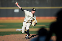 Wake Forest Demon Deacons relief pitcher Griffin Roberts (43) delivers a pitch to the plate against the Richmond Spiders at David F. Couch Ballpark on March 6, 2016 in Winston-Salem, North Carolina.  The Demon Deacons defeated the Spiders 17-4.  (Brian Westerholt/Four Seam Images)