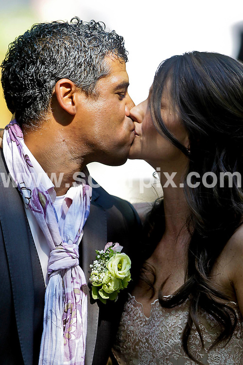 **ALL ROUND PICTURES FROM SOLARPIX.COM**.**SYNDICATION RIGHTS FOR UK ONLY**.Dutch  football manager and former player Frank Rijkaard weds his former family nanny Stefanie Rucker, in Amsterdam, Netherlands. 2 June 2010.This pic: Frank Rijkaard and Stefanie Rucker..JOB REF: 11389 GHJ        DATE: 02_06_2010.**MUST CREDIT SOLARPIX.COM OR DOUBLE FEE WILL BE CHARGED**.**MUST NOTIFY SOLARPIX OF ONLINE USAGE**.**CALL US ON: +34 952 811 768 or LOW RATE FROM UK 0844 617 7637**