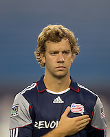 New England Revolution forward Zack Schilawski (15). The New England Revolution defeated Pumas UNAM in SuperLiga group play, 1-0, at Gillette Stadium on July 14, 2010.