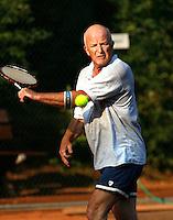 24-8-07, Velp, Tennis, Nationale  Veteranen Tennis Kampioenschappen 2007, Bert Bos HE 60+