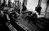 Volgograd, Russia.1992.The essemble line of a post-communist factory.