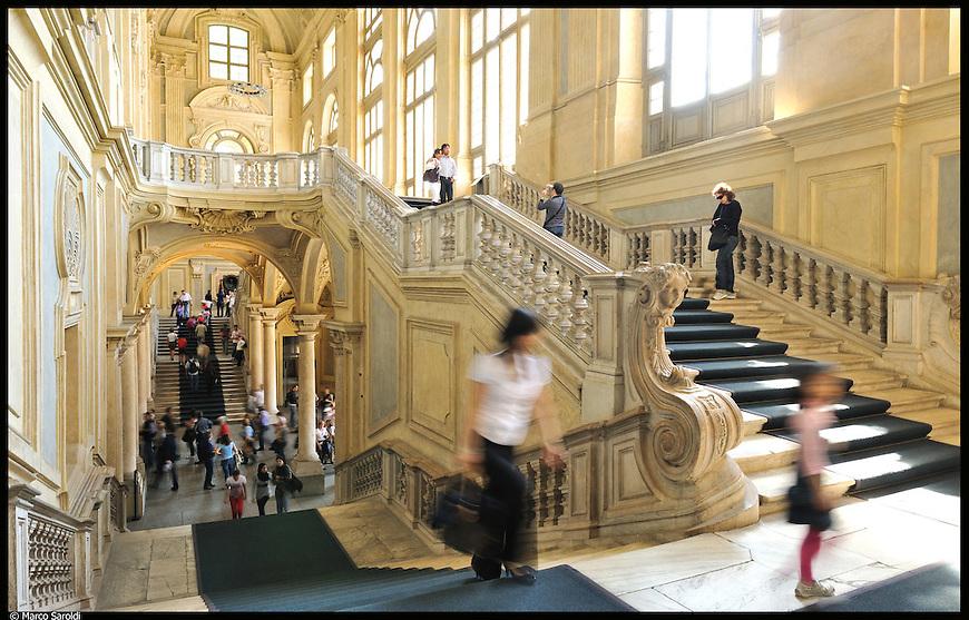 Palazzo Madama. Immagine appartenente al progetto fotografico Vita da Museo di Marco Saroldi.