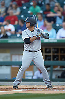 Mike Ford (25) of the Scranton/Wilkes-Barre RailRiders at bat against the Charlotte Knights at BB&T BallPark on April 12, 2018 in Charlotte, North Carolina.  The RailRiders defeated the Knights 11-1.  (Brian Westerholt/Four Seam Images)
