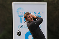 Ugo Coussaud (FRA) on the 8th tee during Round 2 of the Challenge Tour Grand Final 2019 at Club de Golf Alcanada, Port d'Alcúdia, Mallorca, Spain on Friday 8th November 2019.<br /> Picture:  Thos Caffrey / Golffile<br /> <br /> All photo usage must carry mandatory copyright credit (© Golffile | Thos Caffrey)