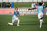 Kansas City, MO - Sunday May 07, 2017: Marta Vieira Da Silva, Jasmyne Spencer during a regular season National Women's Soccer League (NWSL) match between FC Kansas City and the Orlando Pride at Children's Mercy Victory Field.