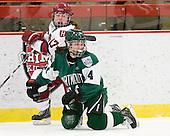 Kaitlin Spurling (Harvard - 17), Erica Dobos (Dartmouth - 14) - The visiting Dartmouth College Big Green defeated the Harvard University Crimson 3-2 on Wednesday, November 23, 2011, at Bright Hockey Center in Cambridge, Massachusetts.