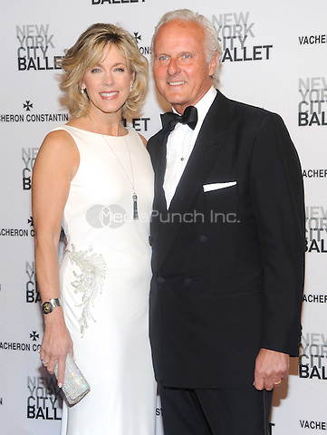 New York, NY- May 8:  Deborah Norville and Karl Wellner attends the 2014 New York City Ballet Spring Gala at the David H. Koch Theater at Lincoln Center on May 8, 2014 in New York City.  Credit: John Palmer/MediaPunch