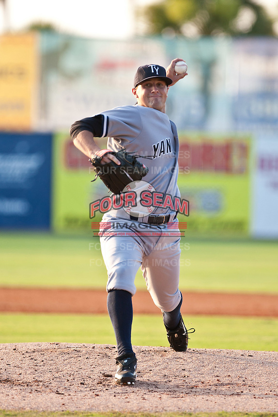 Shaeffer Hall of the Tampa Yankkes during the game against the Daytona Cubs July 8 2010 at Jackie Robinson Ballpark in Daytona Beach, Florida. Photo By Scott Jontes/Four Seam Images